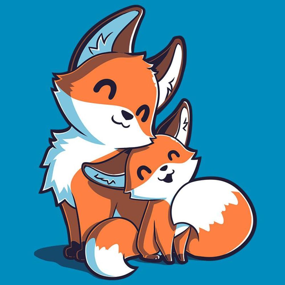 Mama & Baby Fox T-Shirt TeeTurtle