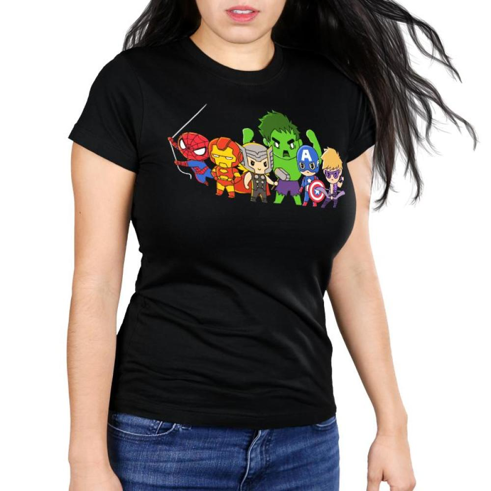 Men of Marvel Shirt Women's Ultra Slim T-Shirt Model Marvel TeeTurtle