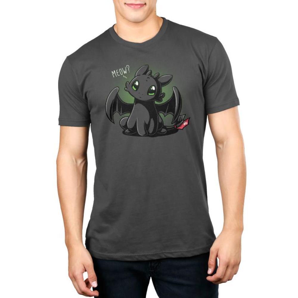 Meow? Men's T-Shirt Model Dreamworks TeeTurtle