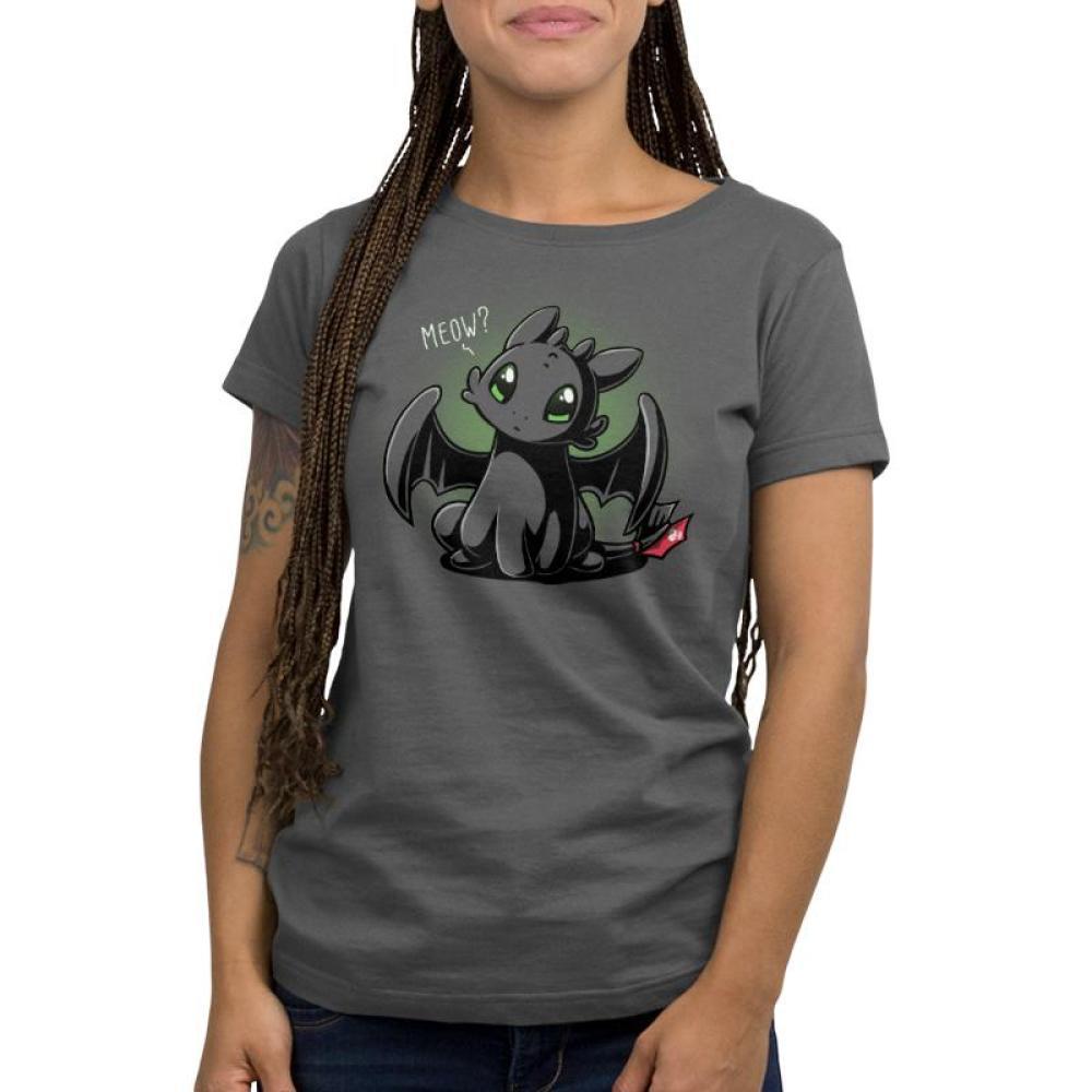 Meow? Women's T-Shirt Model Dreamworks TeeTurtle