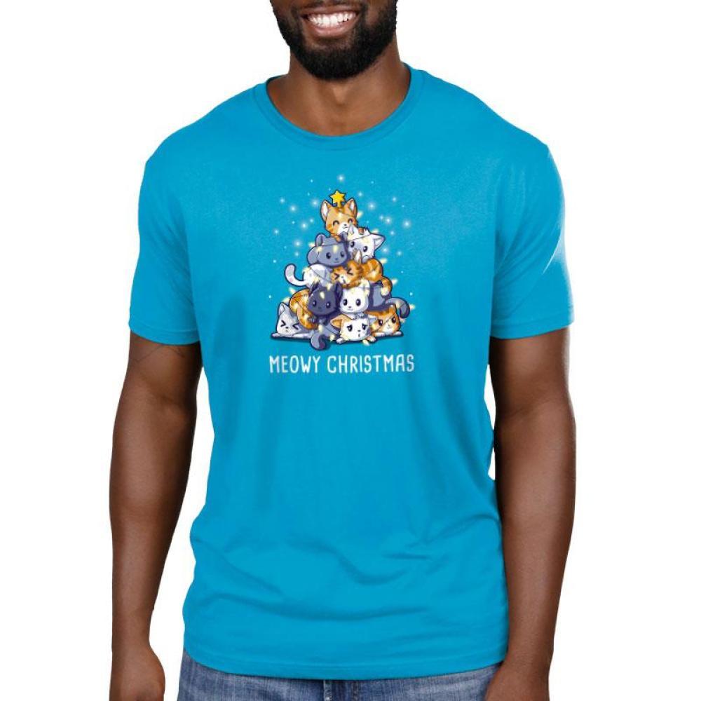 Meowy Christmas Standard T-Shirt Model TeeTurtle