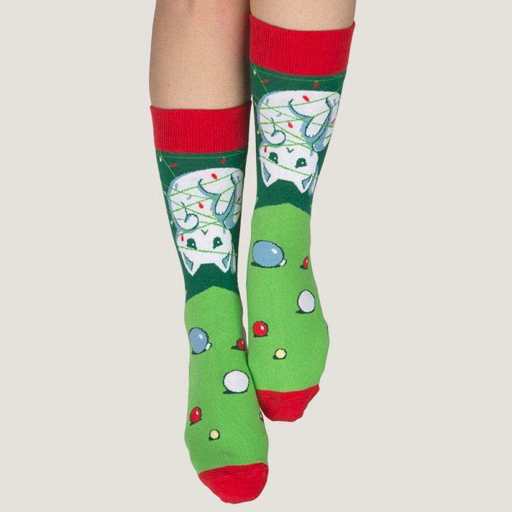 Meowy Christmas Socks Model TeeTurtle
