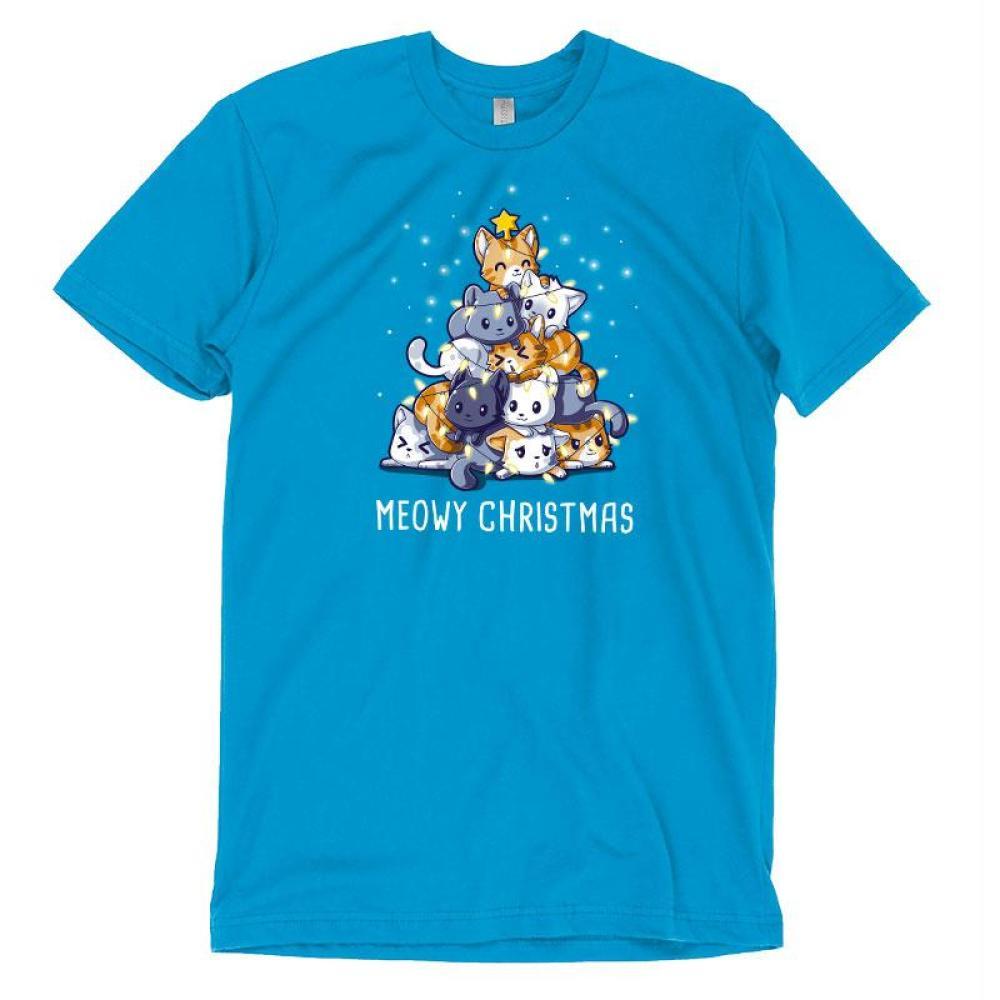Meowy Christmas T-Shirt TeeTurtle
