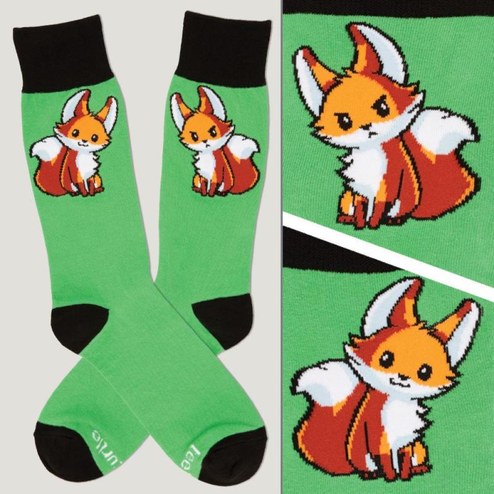 Green Moody Fox Socks TeeTurtle