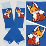 Royal Blue Moody Fox Socks TeeTurtle