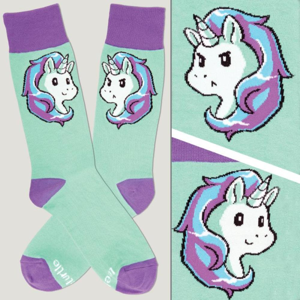 Teal Moody Unicorn Socks TeeTurtle
