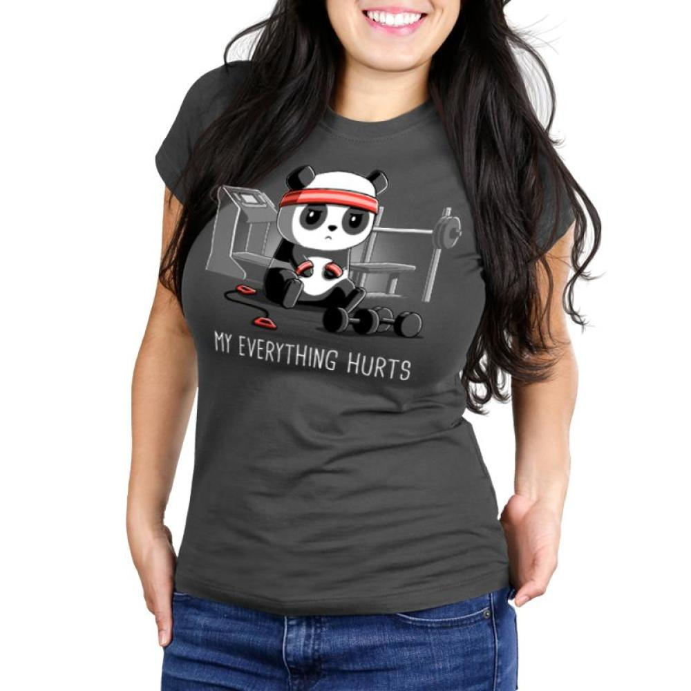 My Everything Hurts Women's Ultra Slim T-Shirt Model TeeTurtle