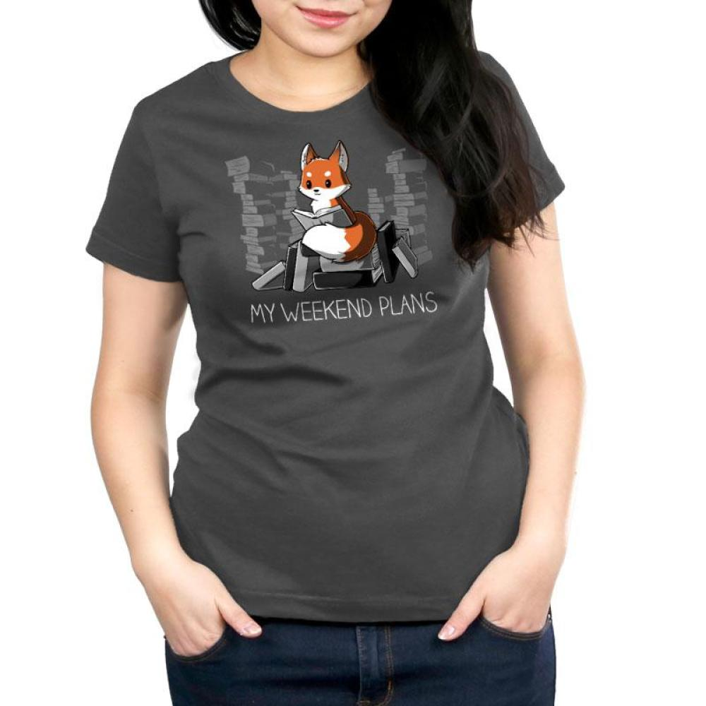 My Weekend Plans Women's Relaxed Fit T-Shirt Model TeeTurtle