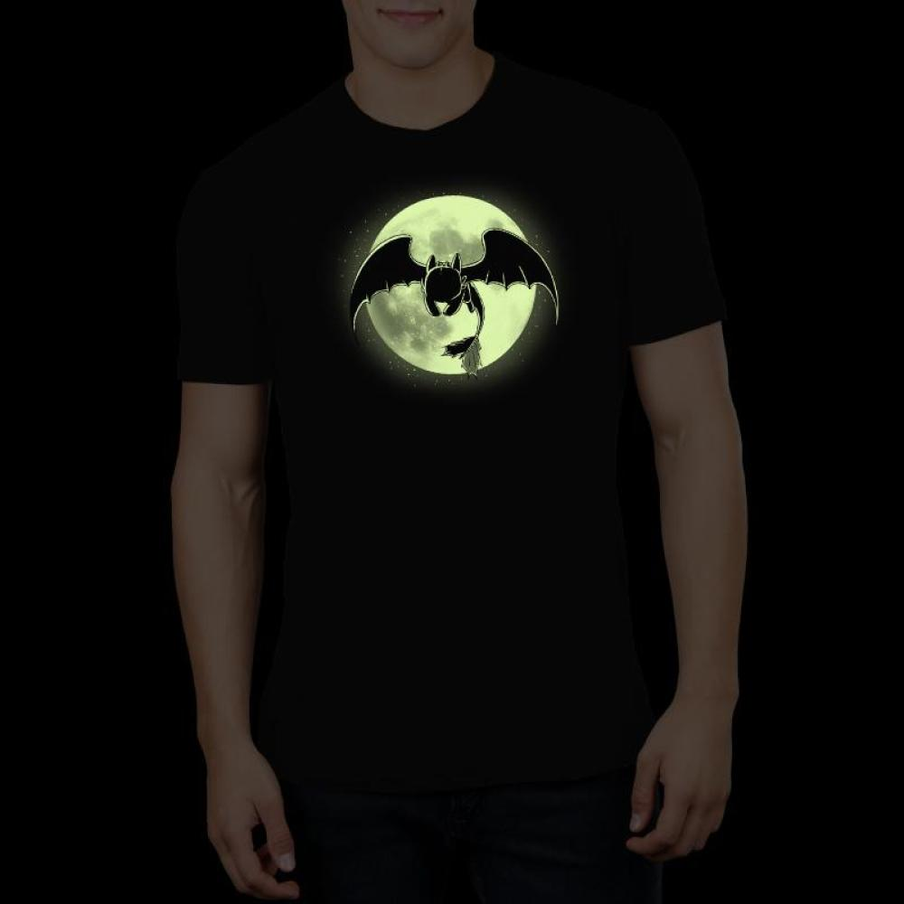 Night Fury t-shirt How To Train Your Dragon TeeTurtle Glow