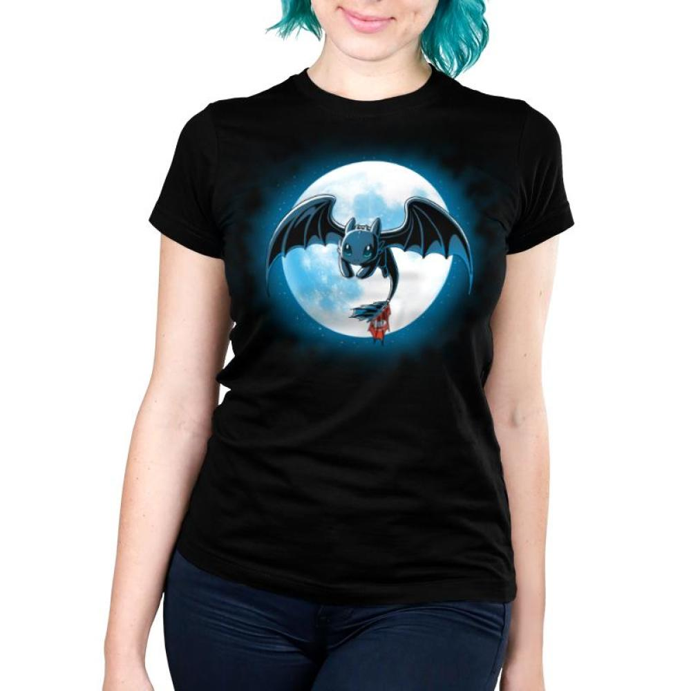 Night Fury Women's Ultra Slim t-shirt Model How To Train Your Dragon TeeTurtle