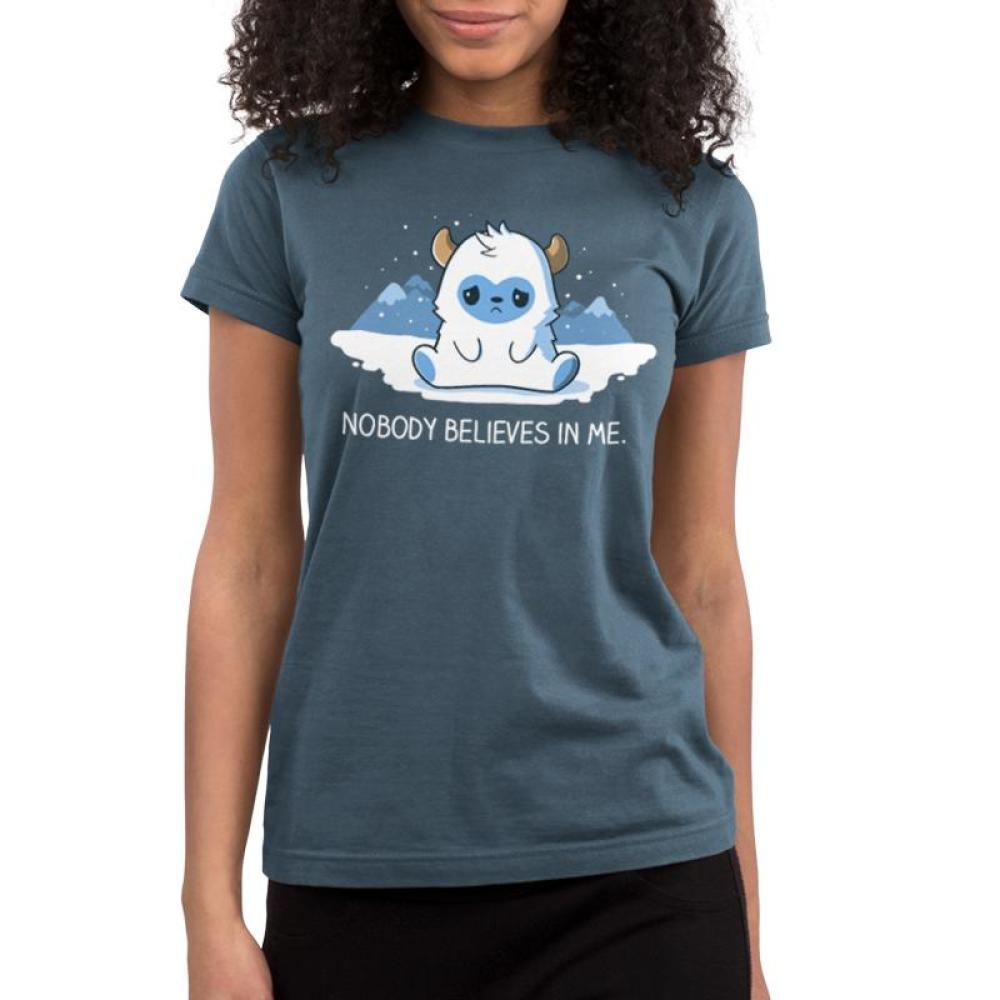 No One Believes In Me Juniors T-Shirt Model TeeTurtle