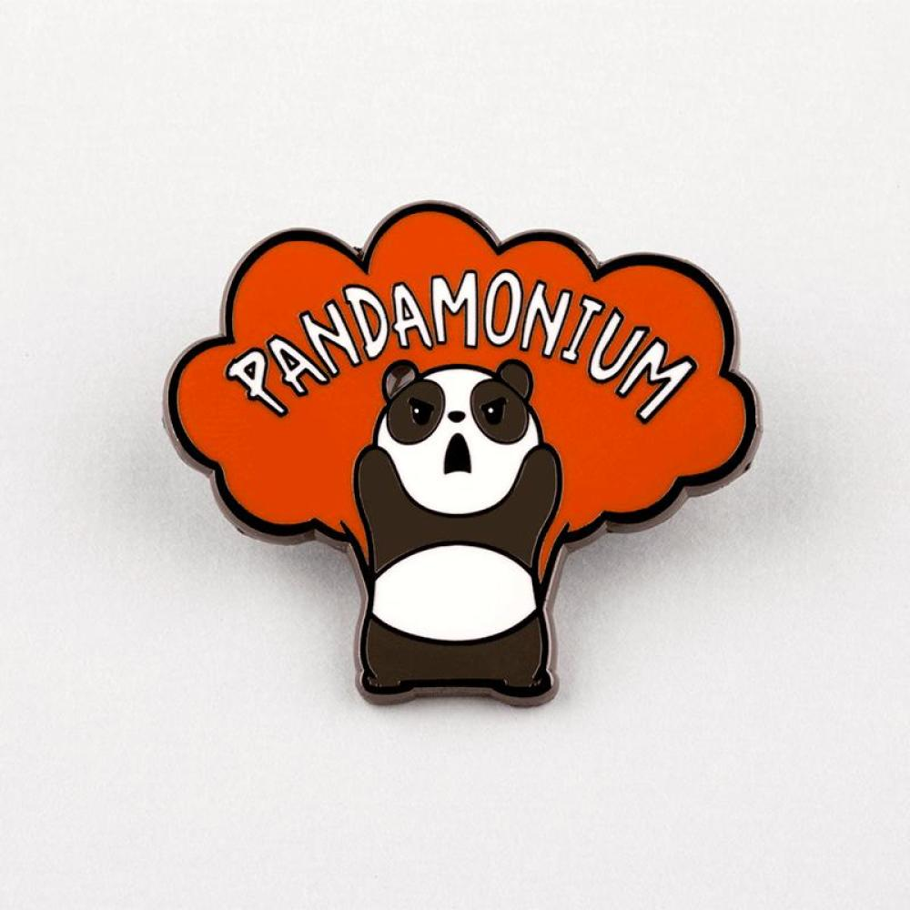 Pandamonium Pin TeeTurtle