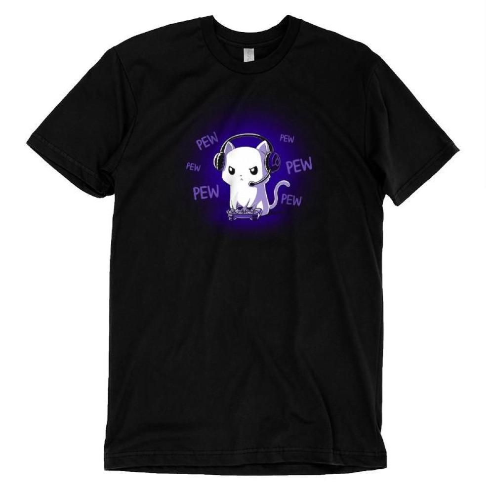 Pew Pew Kitty Glow T-Shirt TeeTurtle