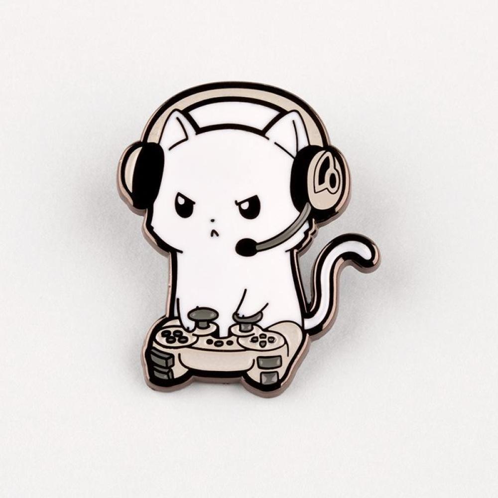 Pew Pew Kitty Charm Pin TeeTurtle