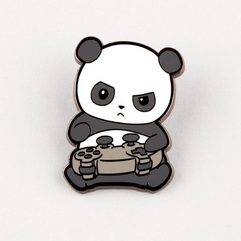 Pew Pew Panda Charm Pin TeeTurtle