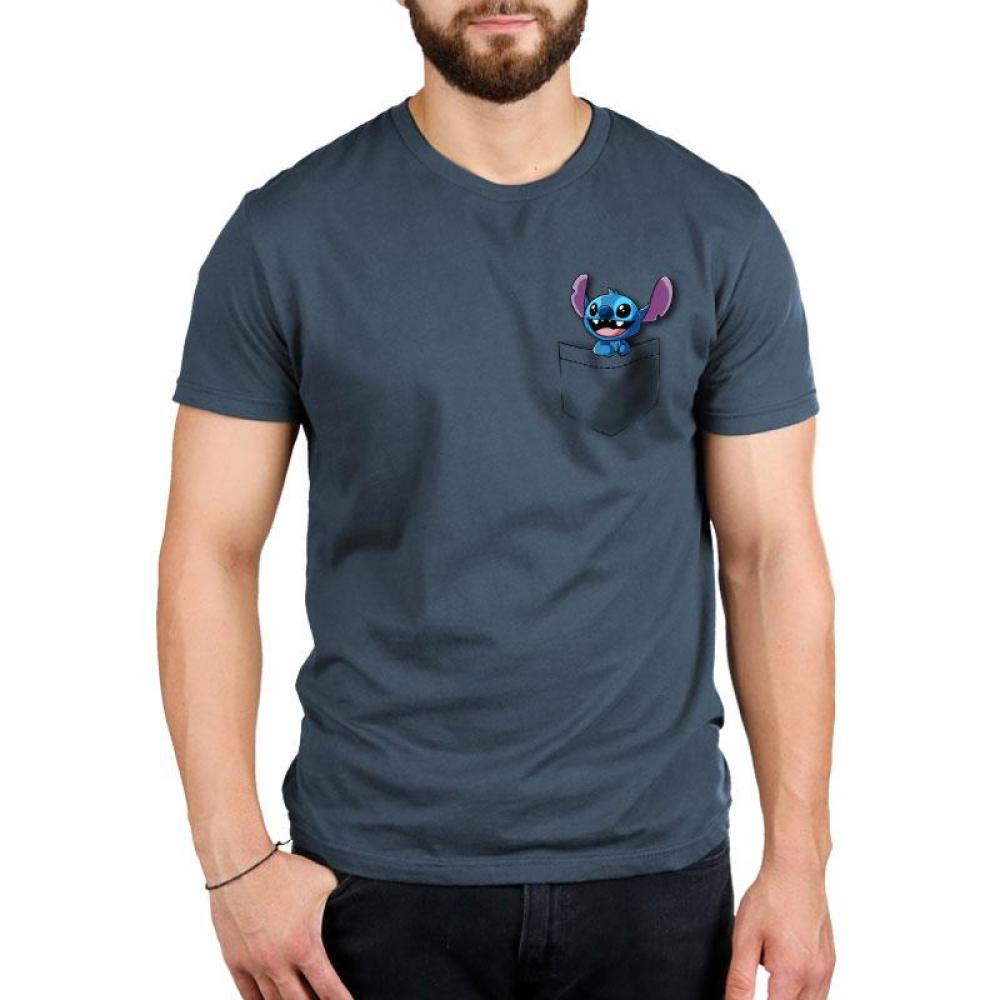 Pocket Stitch Standard T-Shirt Model Lilo and Stitch TeeTurtle