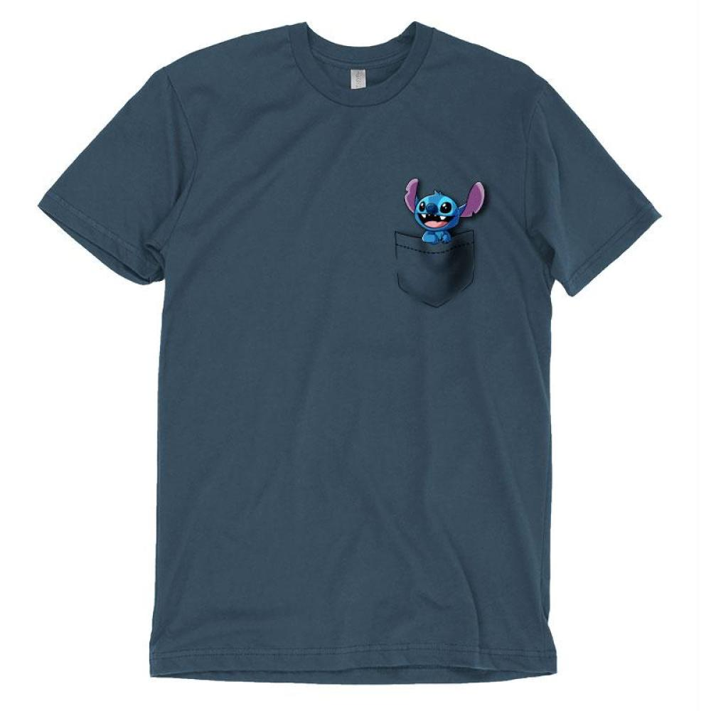 Pocket Stitch T-Shirt Lilo and Stitch TeeTurtle