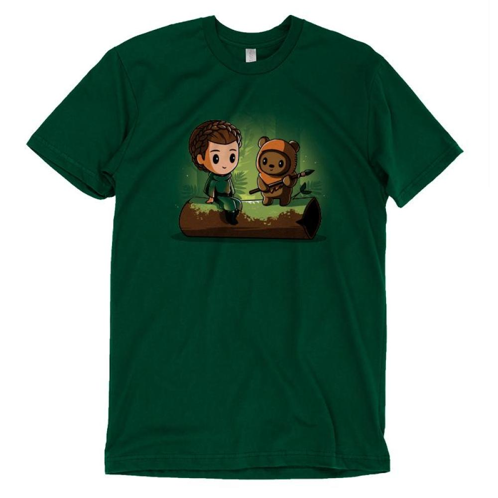 Princess Leia and Wicket the Ewok T-Shirt Star Wars TeeTurtle