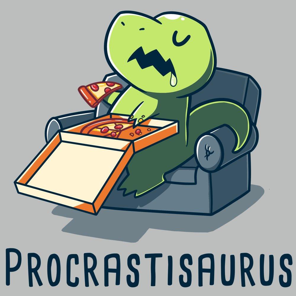 Procrastisaurus T-Shirt TeeTurtle