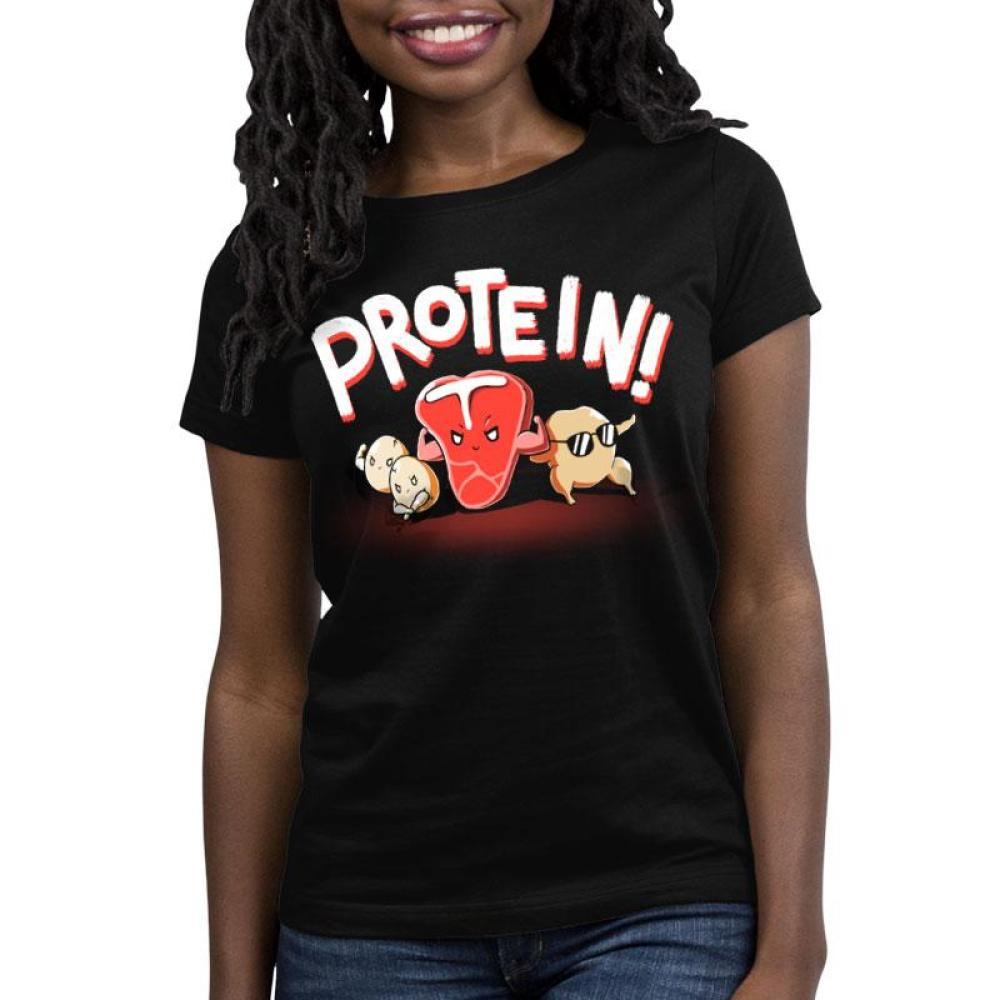 Protein! Women's Relaxed Fit T-Shirt Model TeeTurtle