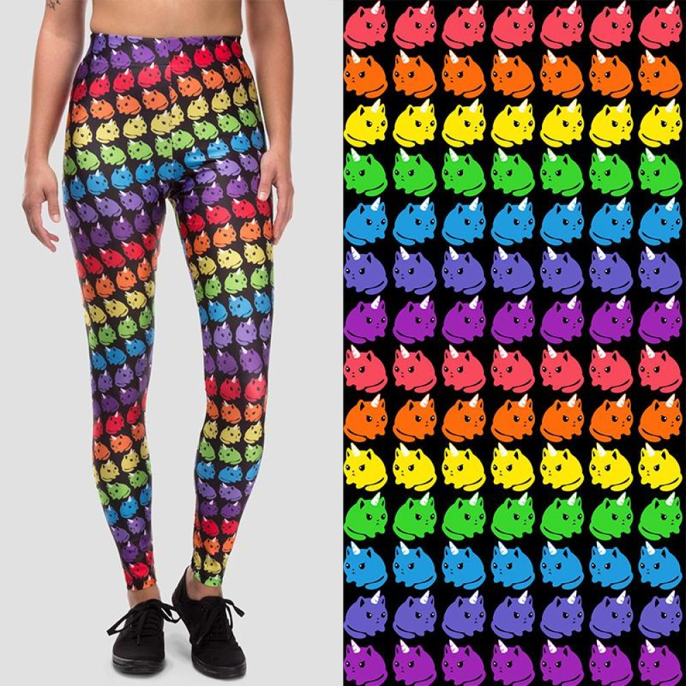 Rainbow Kittencorn Leggings TeeTurtle
