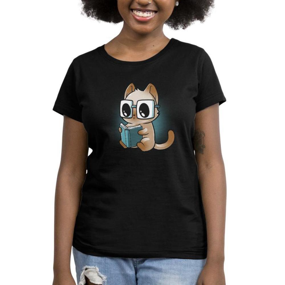 Reading Glasses Women's T-Shirt Model TeeTurtle