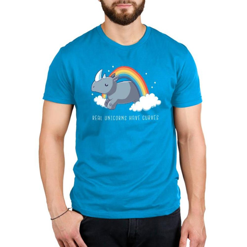 Real Unicorns Have Curves Standard T-Shirt Model TeeTurtle