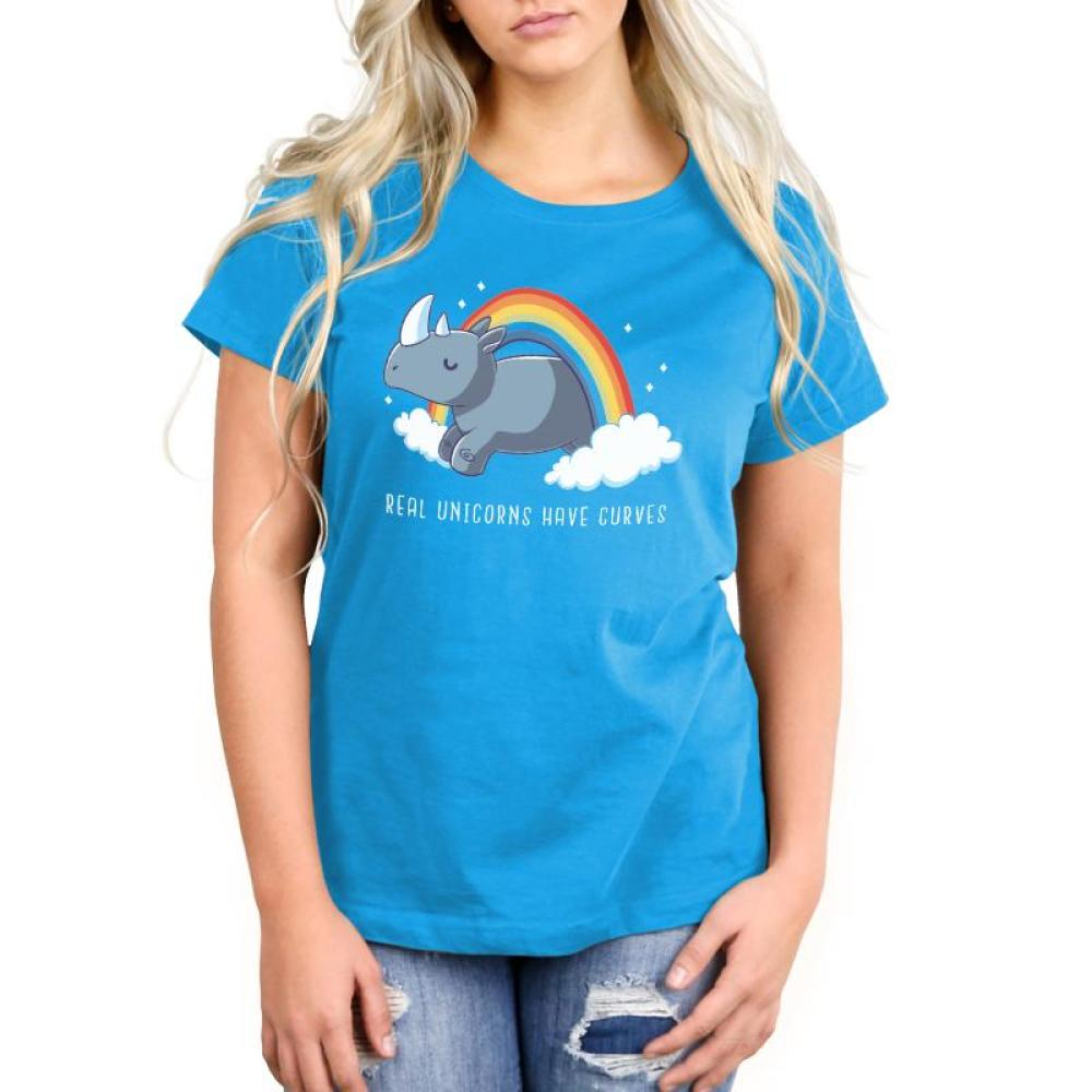 Real Unicorns Have Curves Women's Relaxed Fit T-Shirt Model TeeTurtle