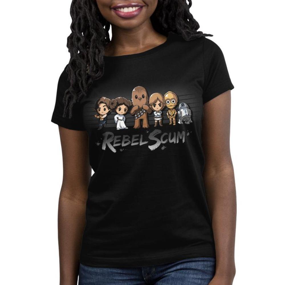 Rebel Scum Women's T-Shirt Model Star Wars TeeTurtle