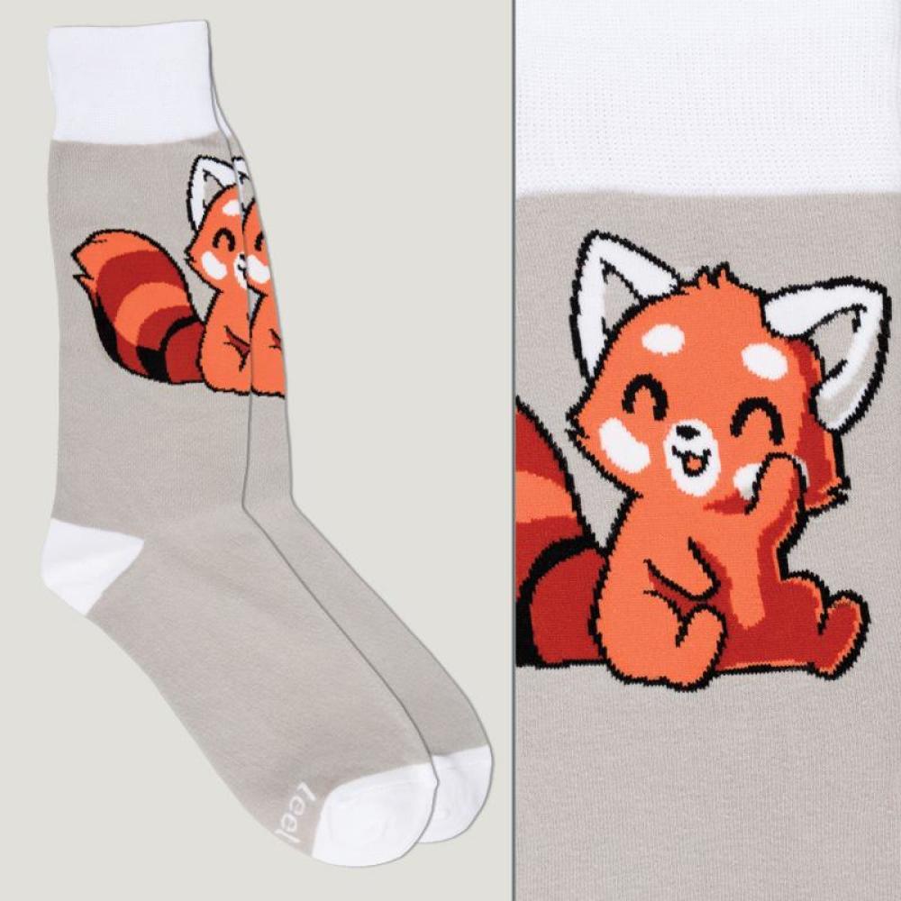 Gray Red Panda Socks TeeTurtle