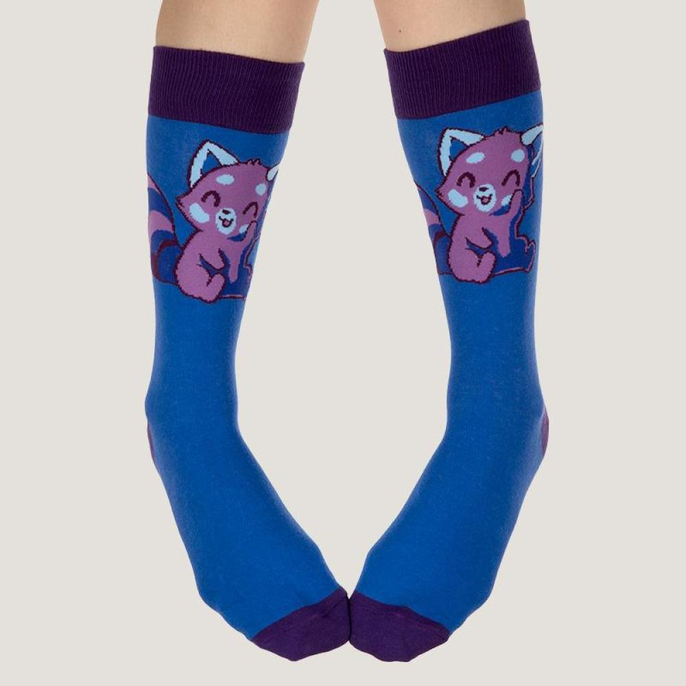 Purple Red Panda Socks Model TeeTurtle