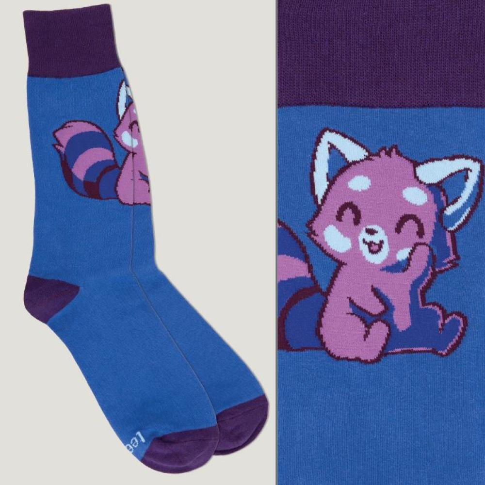 Purple Red Panda Socks TeeTurtle