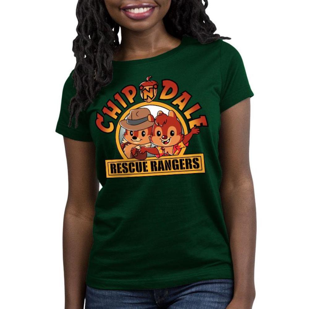 Chip 'n Dale Rescue Rangers Women's Relaxed Fit T-Shirt Model Disney TeeTurtle