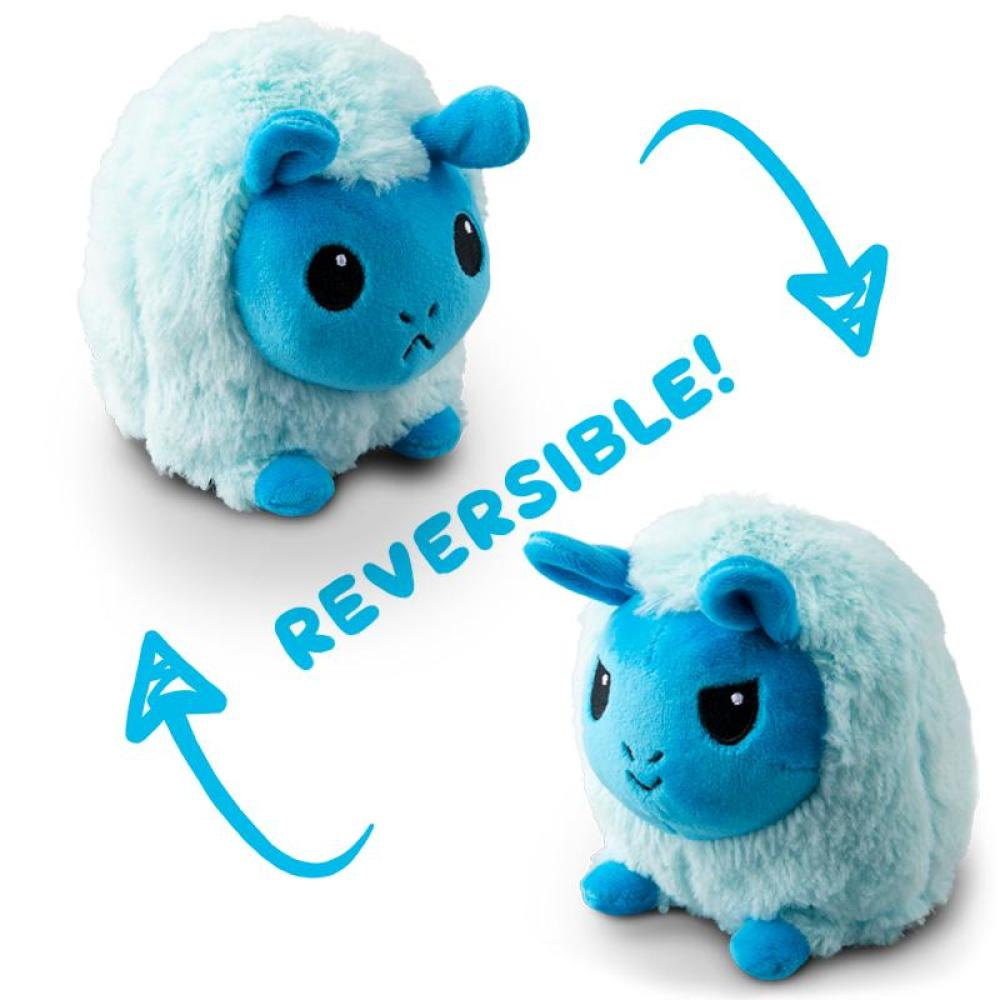 Reversible Llama Mini Lt. Blue and Dark Blue Plushie TeeTurtle