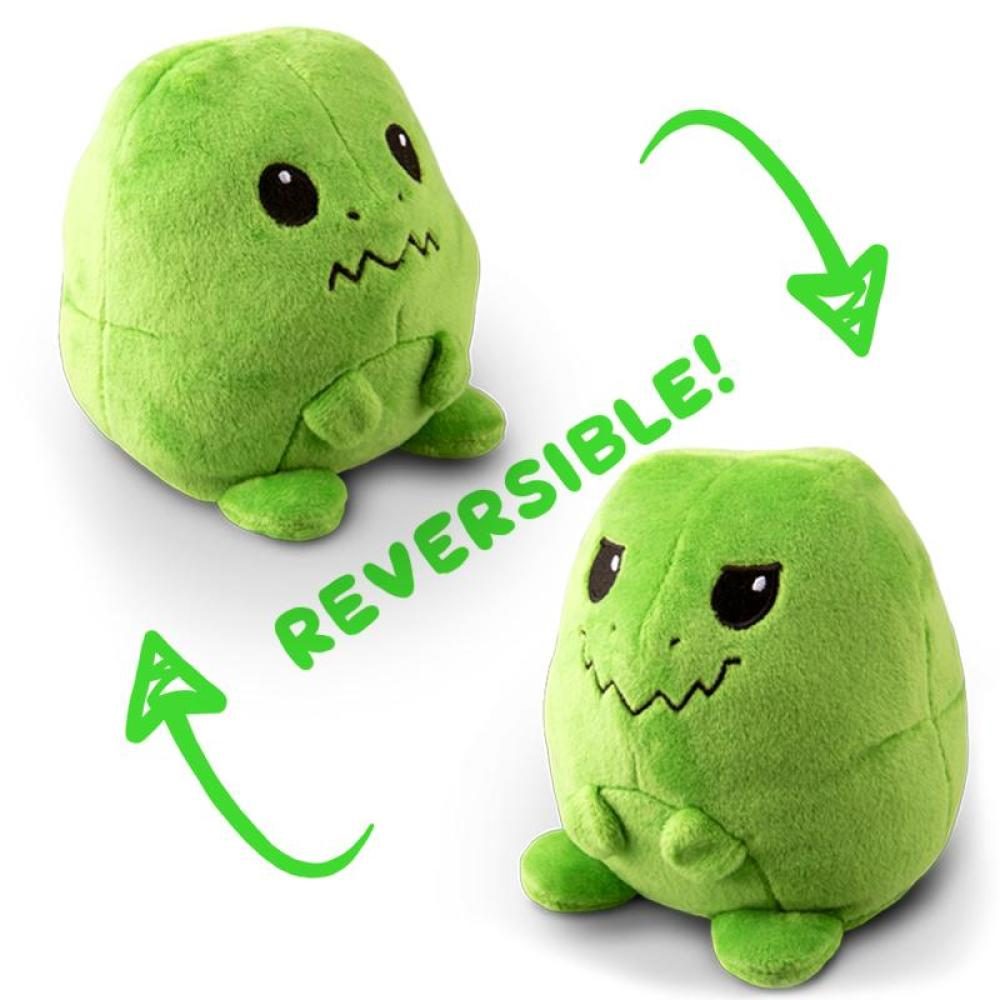 Reversible T-Rex Mini Green Plushie TeeTurtle
