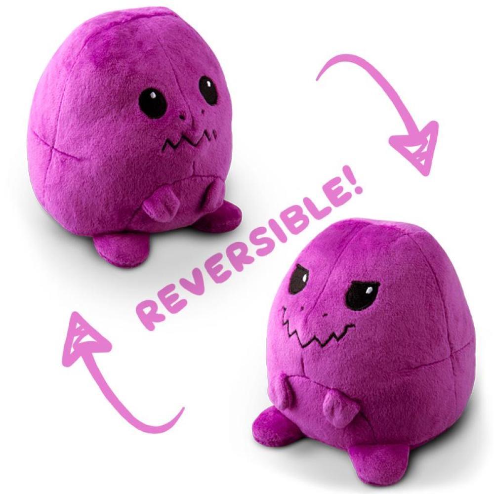 Reversible T-Rex Mini Purple Plushie TeeTurtle