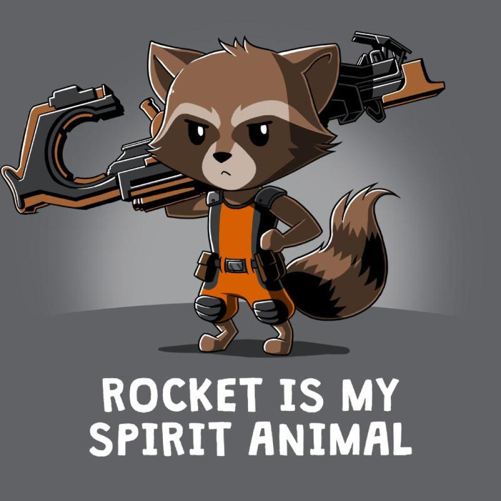 Rocket Is My Spirit Animal T-Shirt Marvel TeeTurtle