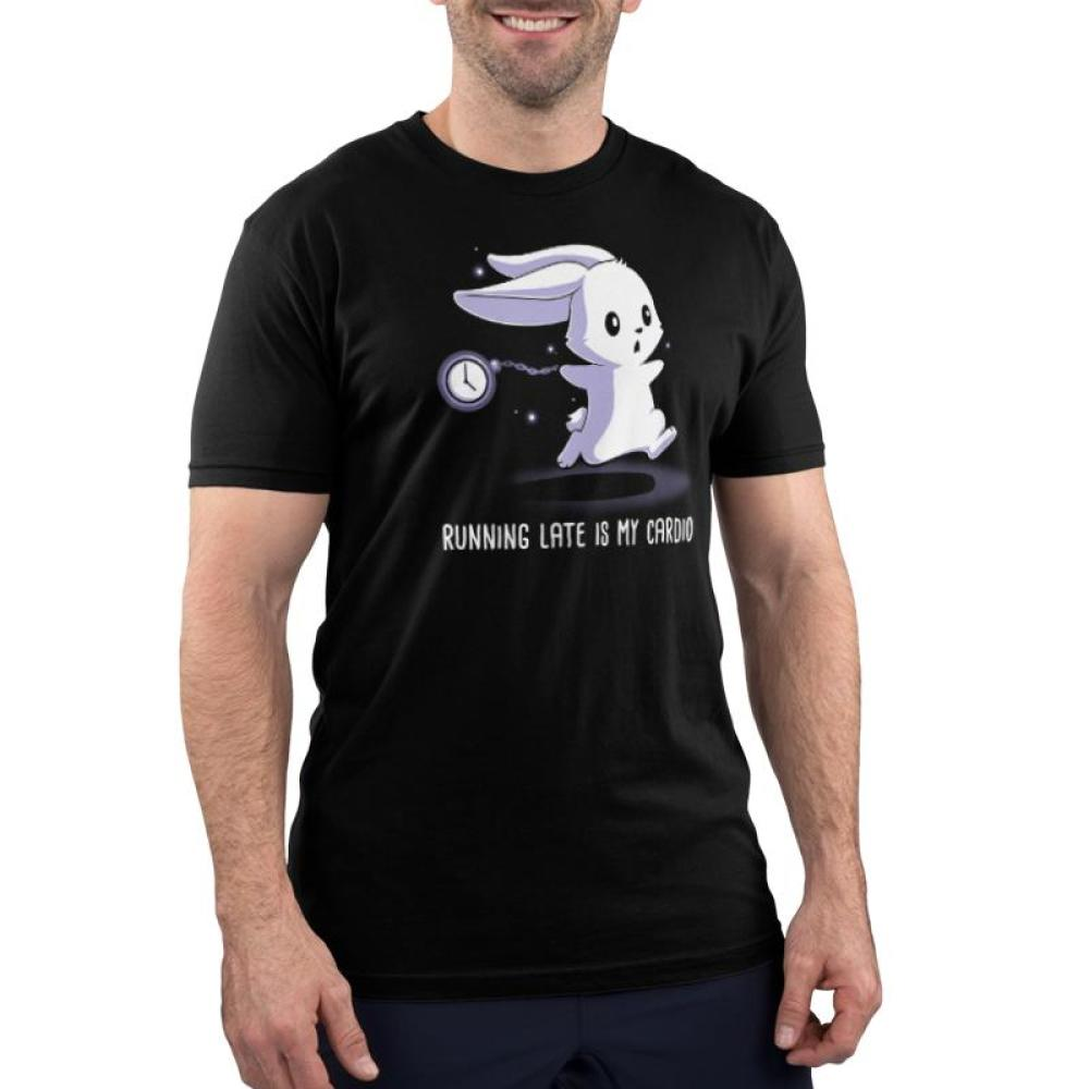 Running Late Is My Cardio Men's T-Shirt Model TeeTurtle