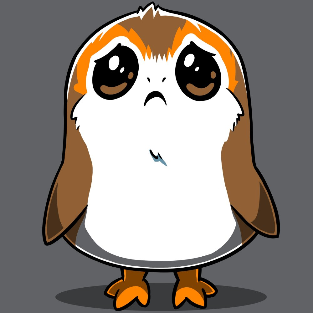 Sad Porg T-Shirt Star Wars TeeTurtle
