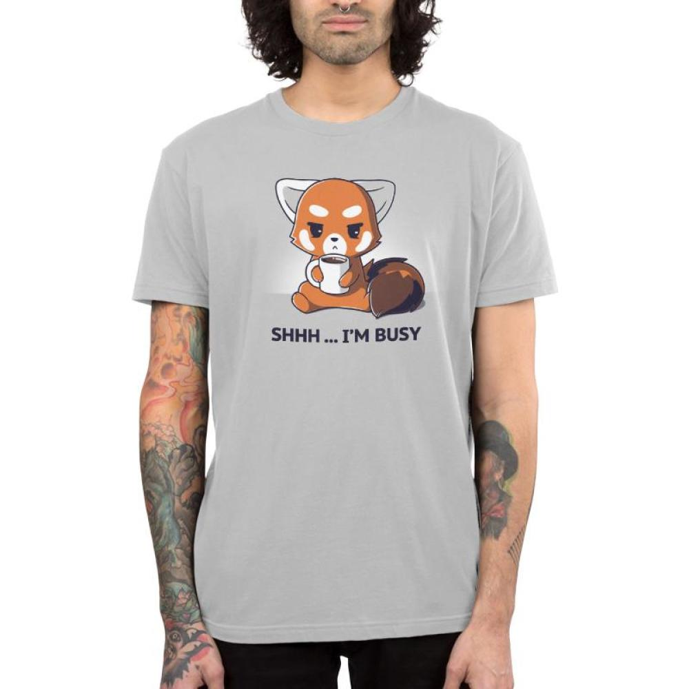 Shhh... I'm Busy Men's T-Shirt Model TeeTurtle