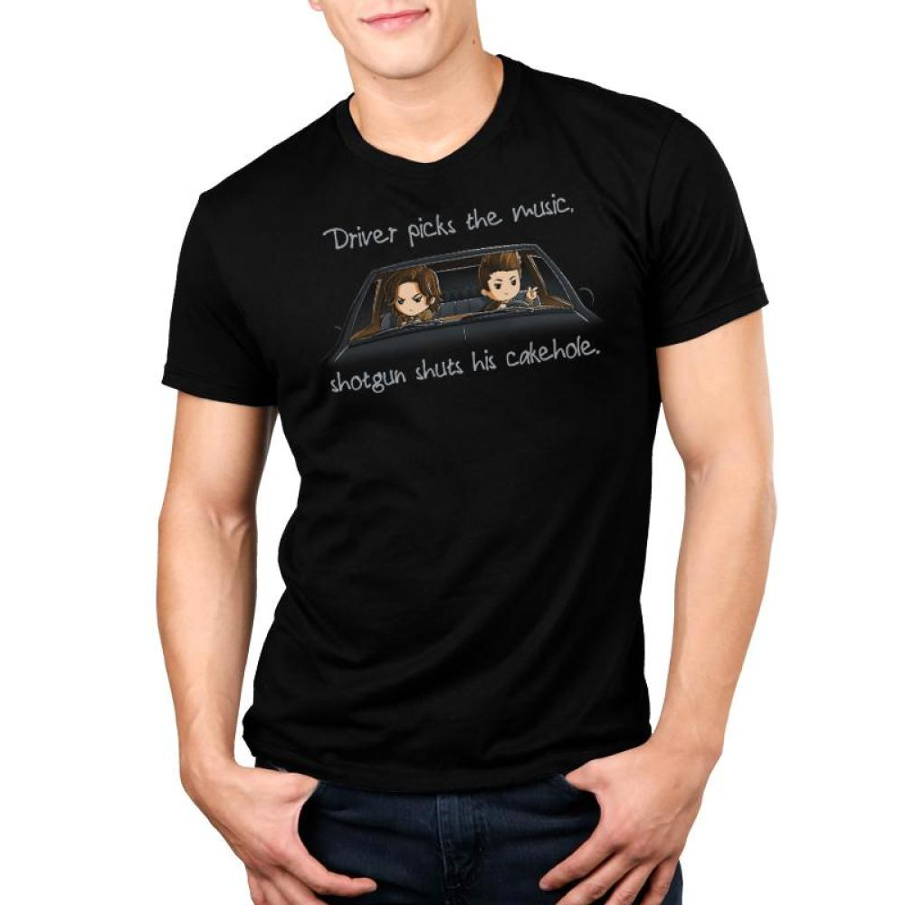 hotgun Shuts His Cakehole Standard Unisex t-shirt model Supernatural TeeTurtle