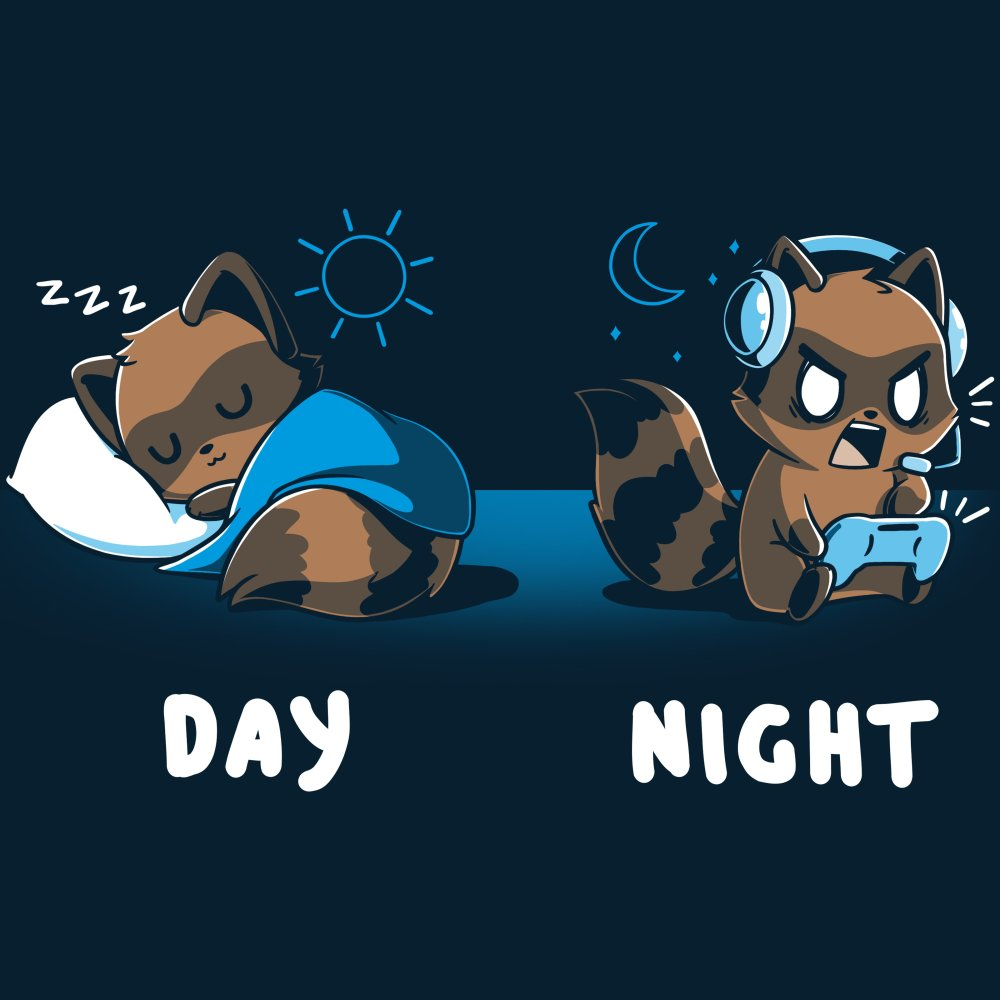 Sleep All Day, Game All Night T-Shirt TeeTurtle