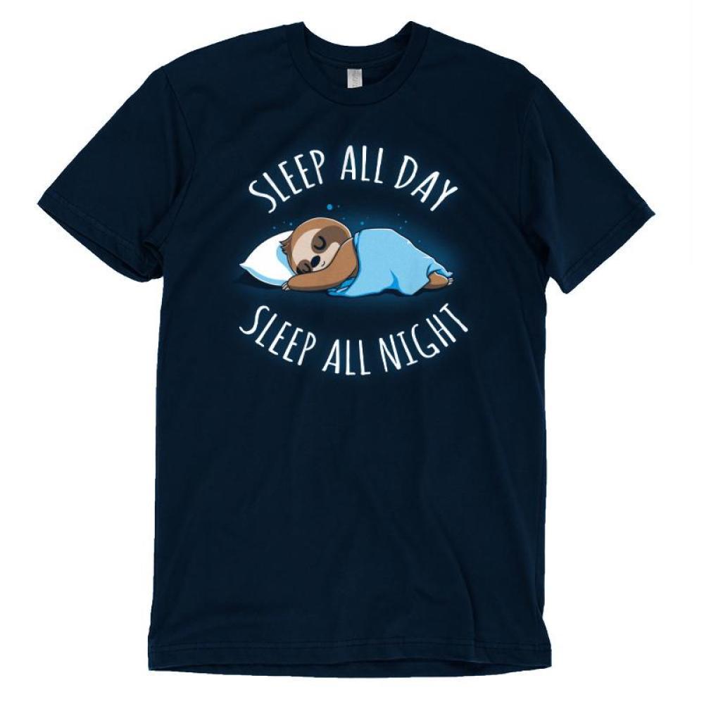 Sleep All Day, Sleep All Night T-Shirt TeeTurtle