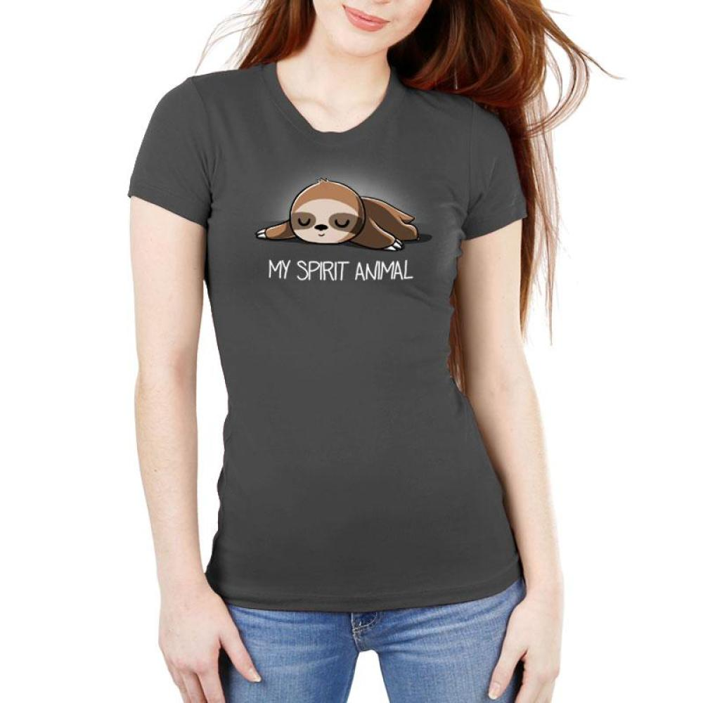 My Spirit Animal (Sloth) Women's Ultra Slim T-Shirt Model TeeTurtle