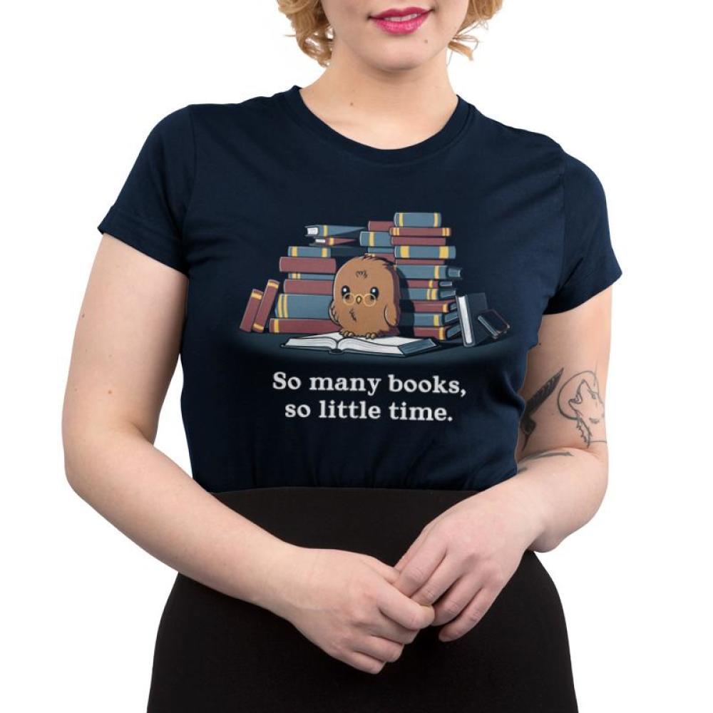So Many Books, So Little Time Juniors T-Shirt Model TeeTurtle