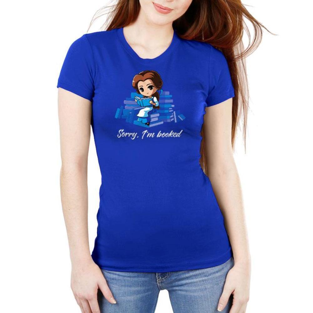 Sorry, I'm Booked (Belle) Women's Ultra Slim T-Shirt Model Disney TeeTurtle