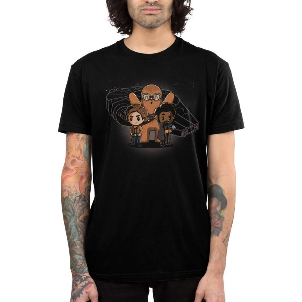Space Smugglers Men's T-Shirt Model Star Wars TeeTurtle