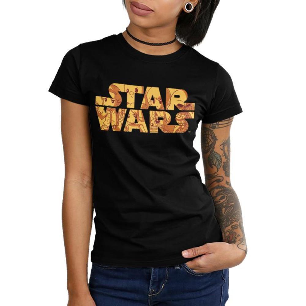 1e1d6eaf7 Luke Skywalker Star Wars Logo Shirt T-shirt | Official Star Wars Tee ...