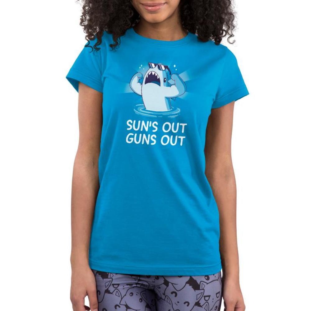 Sun's Out Guns Out Juniors T-Shirt Model TeeTurtle