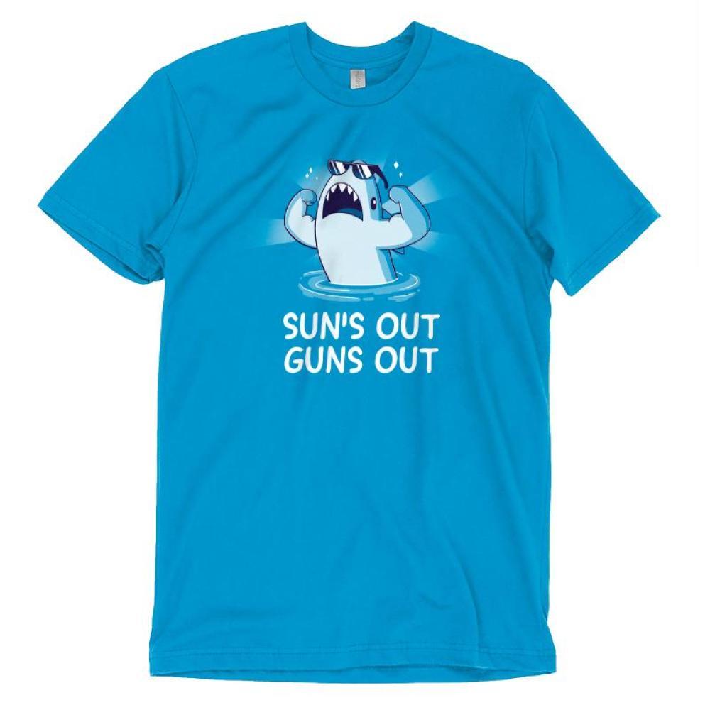 Sun's Out Guns Out T-Shirt TeeTurtle
